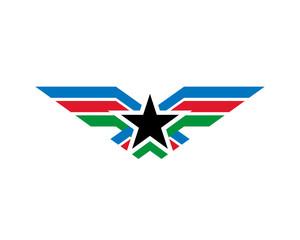 Wing Army Logo Vector