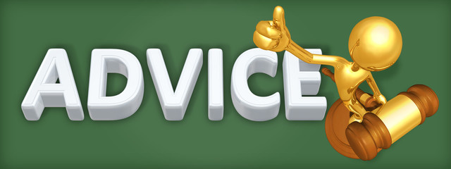 Advice Legal Concept With The Original 3D Character Illustration
