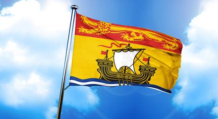 New brunswick flag, 3D rendering