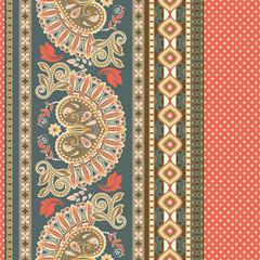 Floral seamless pattern. Ethnic border ornament. Egyptian, Greek, Roman style
