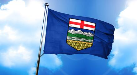 Alberta flag, 3D rendering