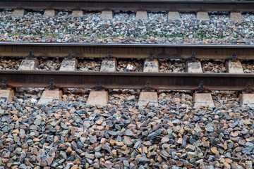 Train railways with little stones useful for background