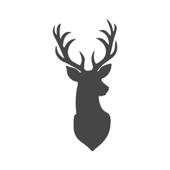 Deer head illustration vector - Illustration