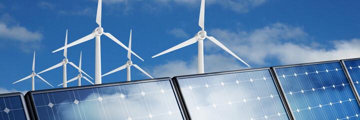 panneaux solaires éoliennes
