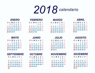 2018 Spanish Calendar