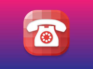 Fototapeta Retro phone icon