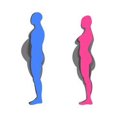 woman and man Fat and slim