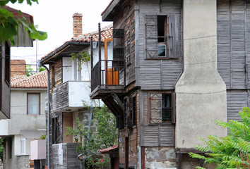 Traditional wooden houses in Old Town of Sozopol, Bulgaria