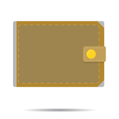 Leather wallet isolated vector
