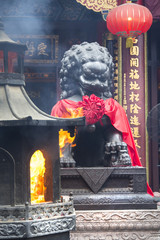The holy statue in Sik Sik Tuen Wong Tai Sin temple in Hong Kong