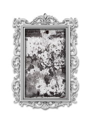 Single Baroque picture frame with old stone wall in it