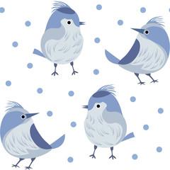 drawing birds and polka dots