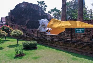 Wat yai chai mongkhon is a Buddhist temple in Ayutthaya, Thailand