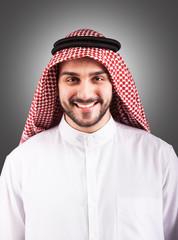 Smiling handsome Arabian man