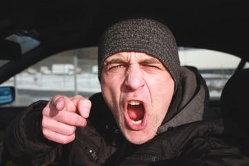 Wütender Autofahrer