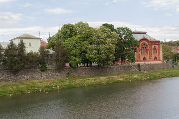 House of the small town of Uzhgorod. Ukraine