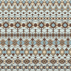 Art Deco Borders in Blue and Brown