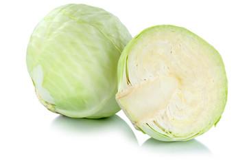 Weißkohl Weißkraut Kraut Kohl frisch geschnitten Gemüse Freis