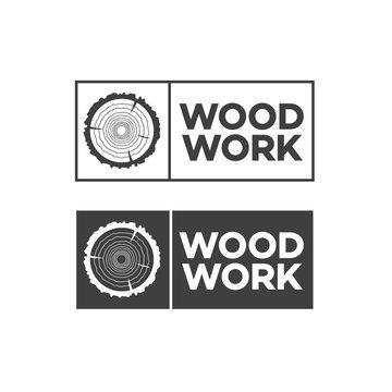 Set of black woodwork label