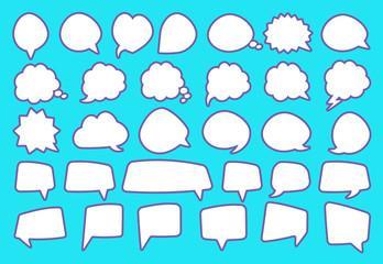 Stickers of speech bubbles set
