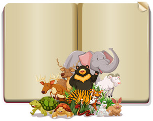 Book with many animals