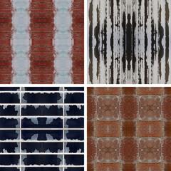 Four Textured Seamless Patterns