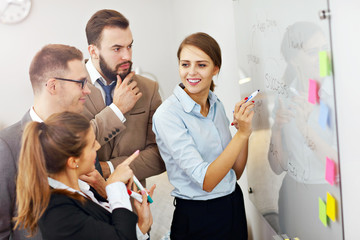 Business people working in team
