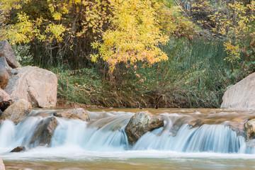 Scenic River Landscape in Autumn