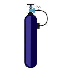 icon oxygen cylinder, flat design, vector image