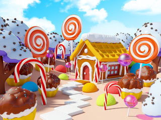 candy land landscape