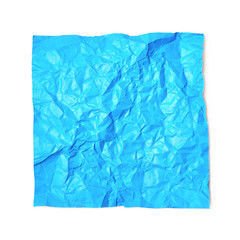Single crumpled paper sheet isolated