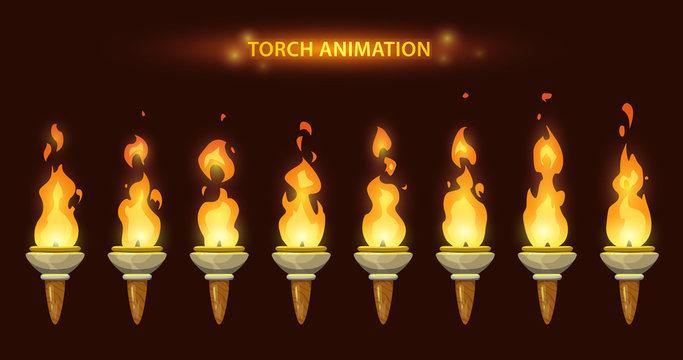Cartoon torch animation.