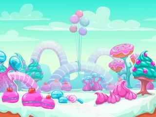 Sweet world cartoon