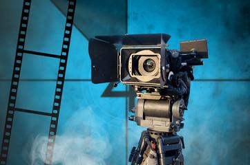Digital video camera. Cinema art. Production