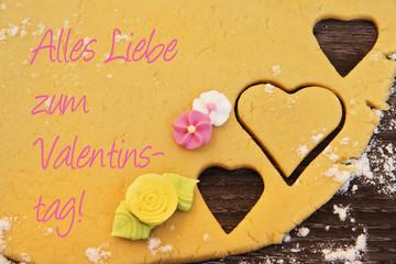Valentinstag, Valentinsgrüsse, Herz, Blumen,