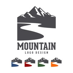 Mountain River Vector Logo