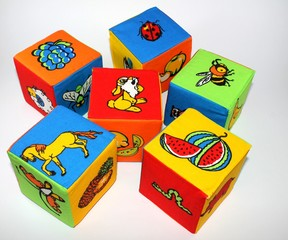 children's blocks with pictures