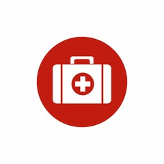 First Aid Kit icon vector design isolated on white background.
