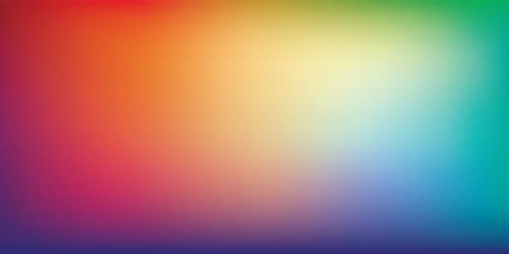 Rainbow Gradient Mesh Blurred Background