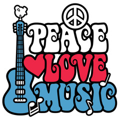 Patriotic Peace-Love-Music