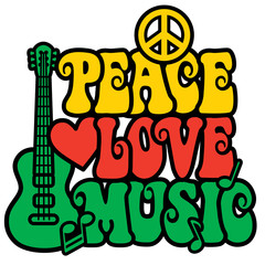 Reggae Peace-Love-Music