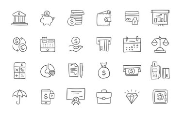 Set of finance and banking icons