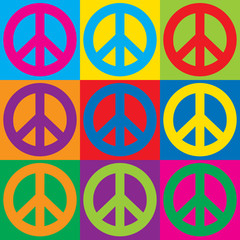 Pop Art Peace Symbols