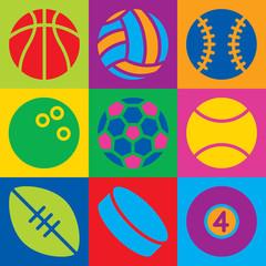 Pop Art Sports Balls