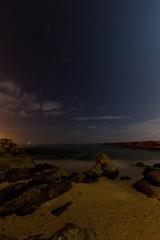 Night scene with rocks