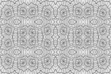 Background zentangle abstract black and white 3