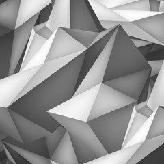 Volume geometric shape, 3d crystal background, abstraction low polygons object, vector design form