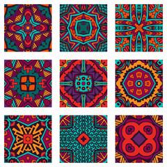 Garden Poster Moroccan Tiles Seamless geometric flower Ethnic pattern background