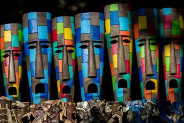 Mayan souvenirs on sale in Chichen Itza, Yucatan, Mexico