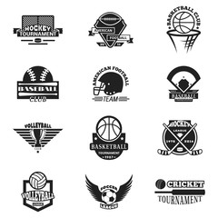 Sport team badge vector set.